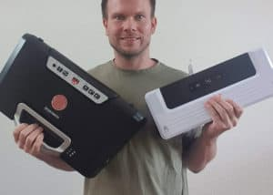 Vakuumiergerät Peach PH310 - Größenvergleich